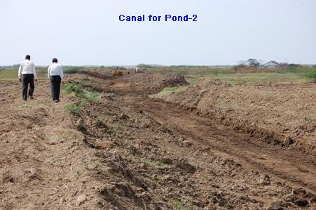 Canal for Pond-2